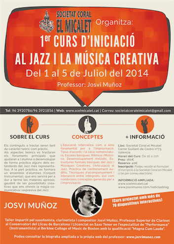 1er Curs dIniciacio al Jazz i la Musica Creativa