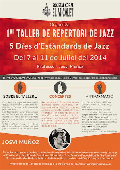 1er Taller de Repertori de Jazz i Musica Creativa