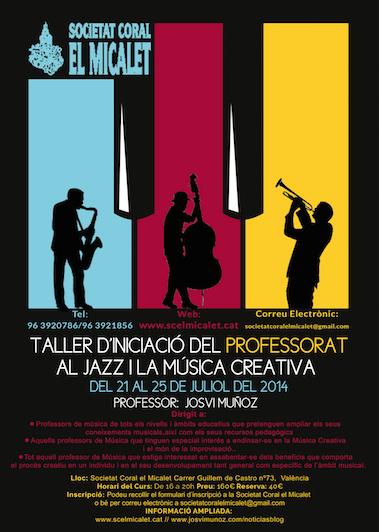 Taller dIniciacio del Professorat al Jazz i la Musica Creativa
