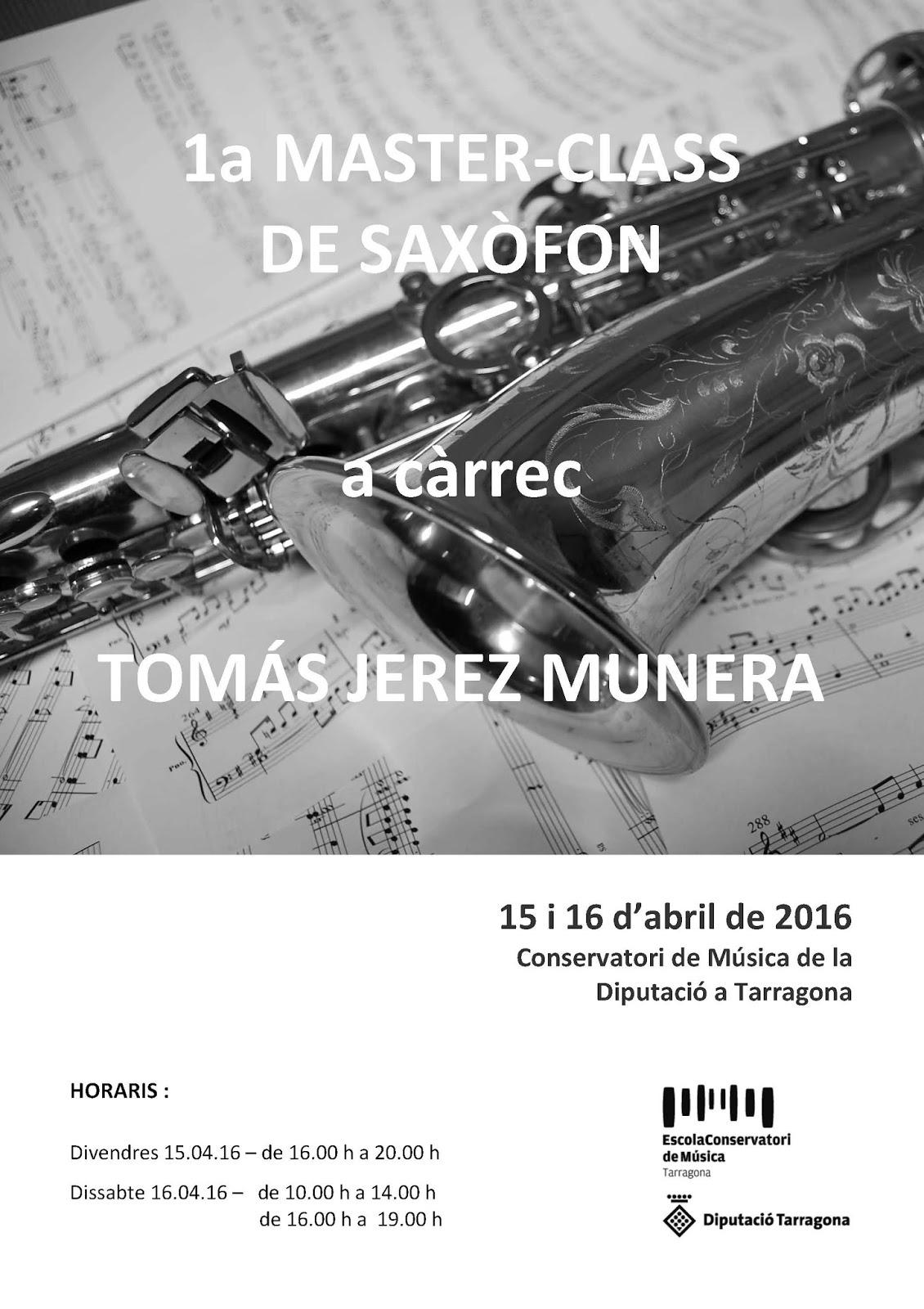 Cartell Master Saxo 2016