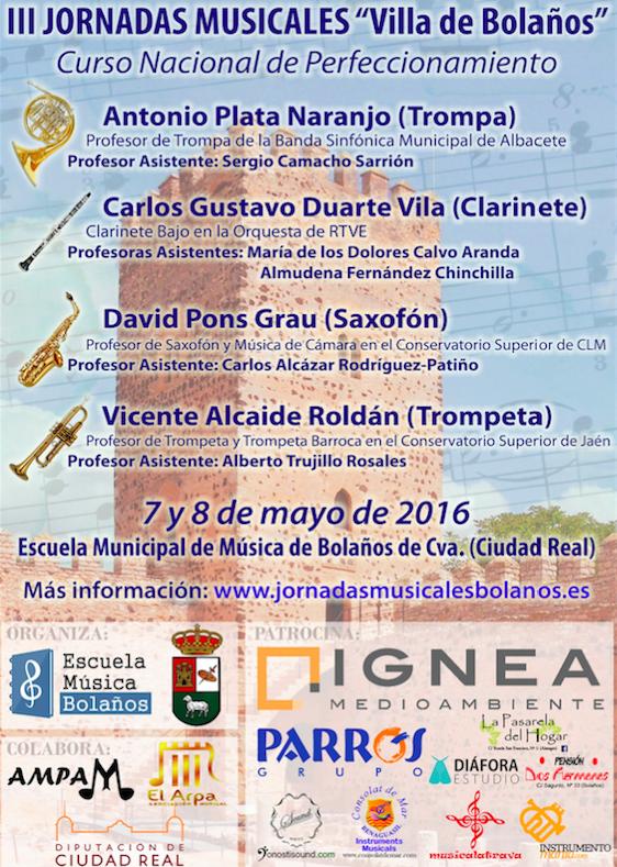 III Jornadas Villa de Bolanos cartel