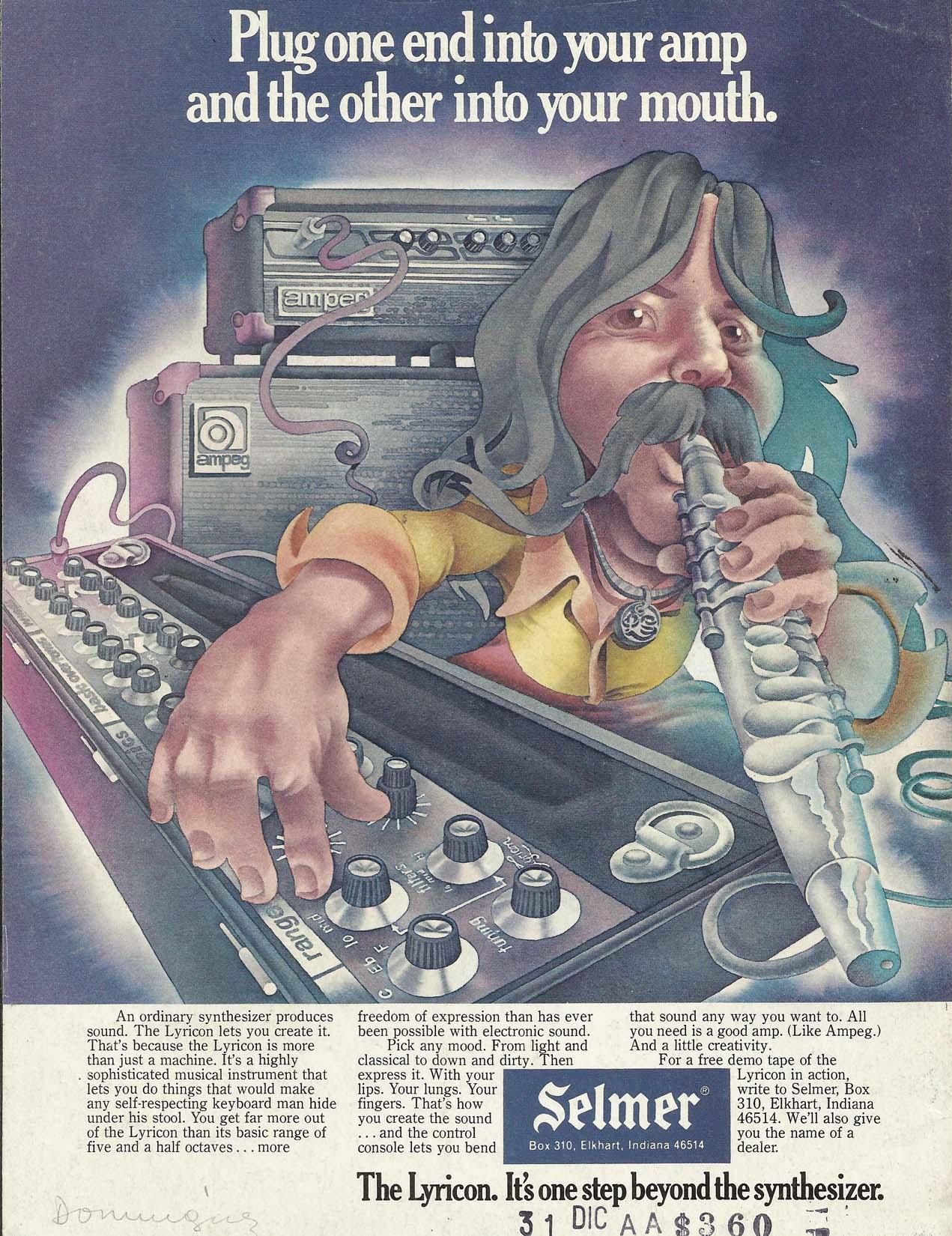 1975 Lyricon Ad