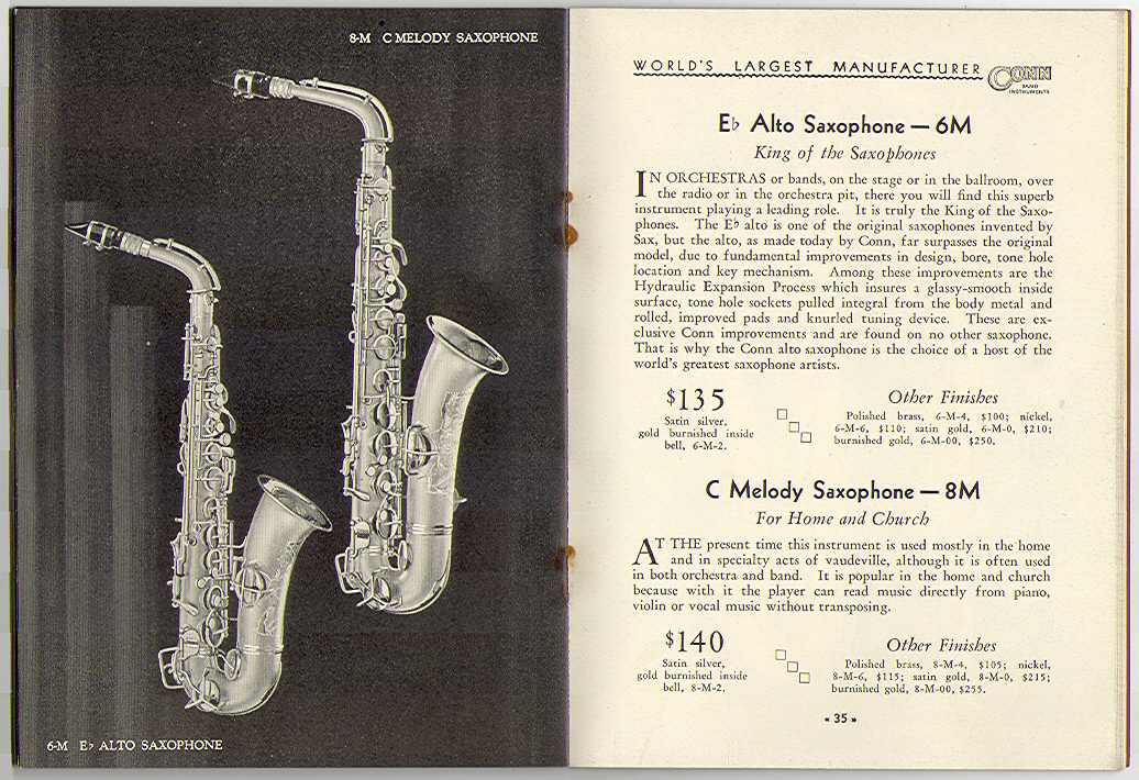 Conn 6m and 8m sax