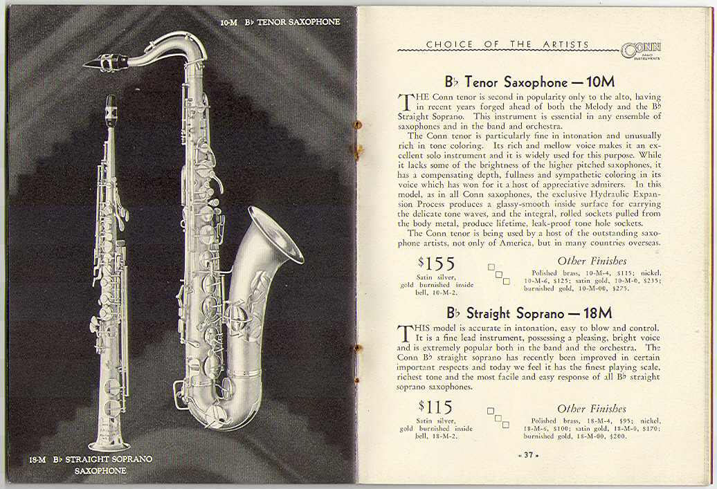 conn 10m and 18m sax
