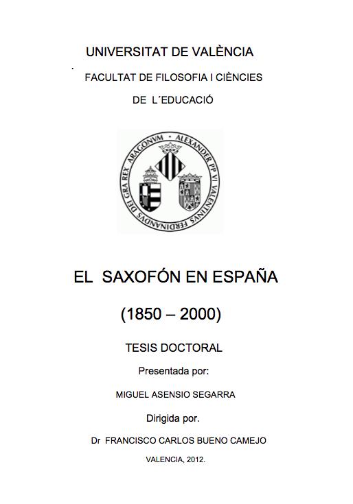 El Saxofon en Espana