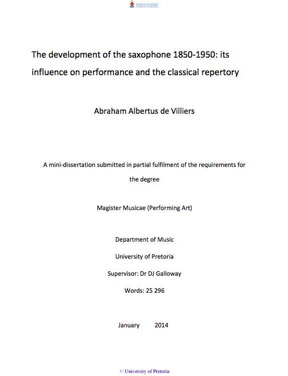 DeVilliers Development 2014