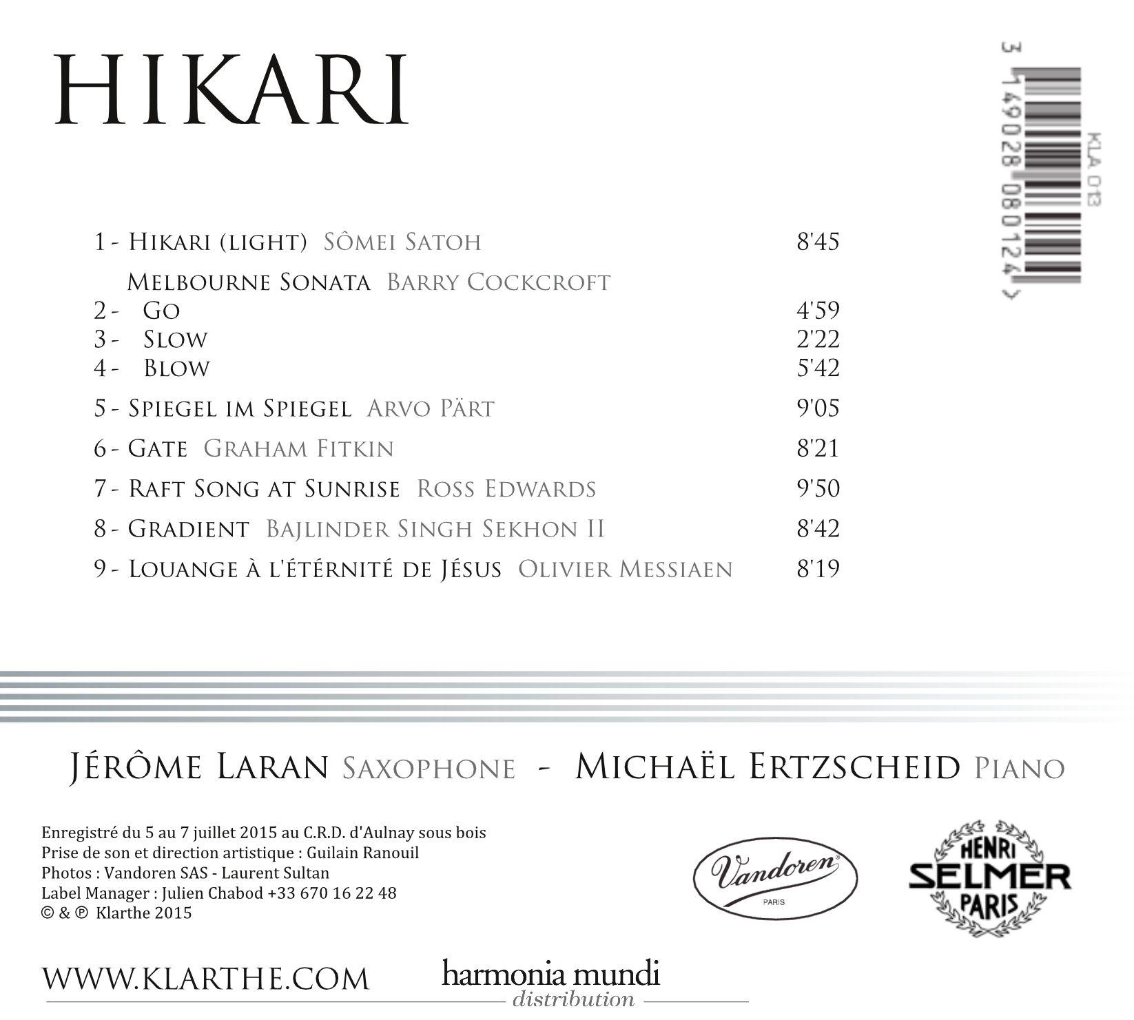 Jerome Laran HIKARI back