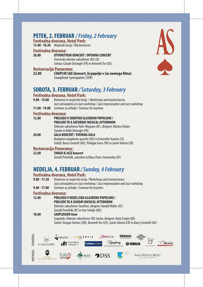 Adolphesax.com As Festival Schedule