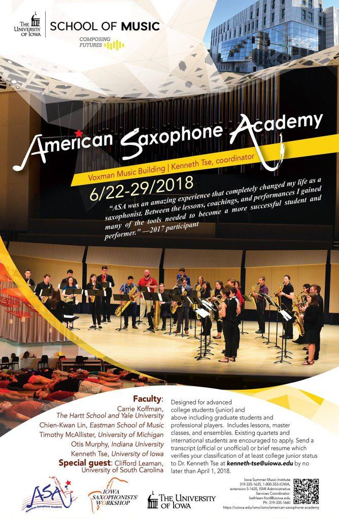 Adolphesax.com American saxophone academy 2018