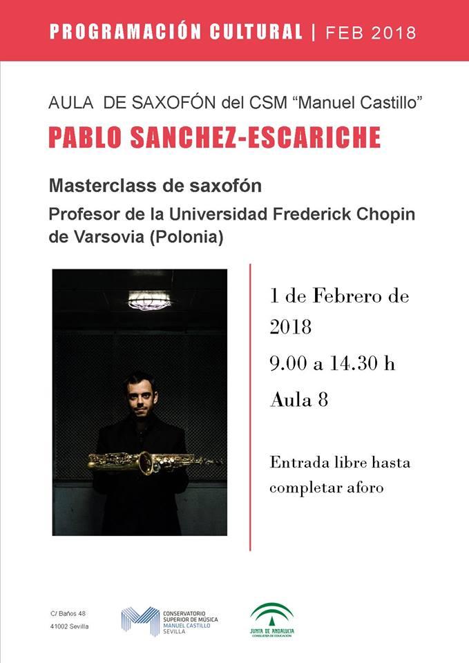 Pablo Sanchez Escariche Master Class Sevilla 2018
