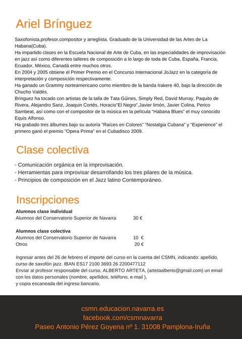 Adolphesax.com Ariel Bringuez Pamplona 2