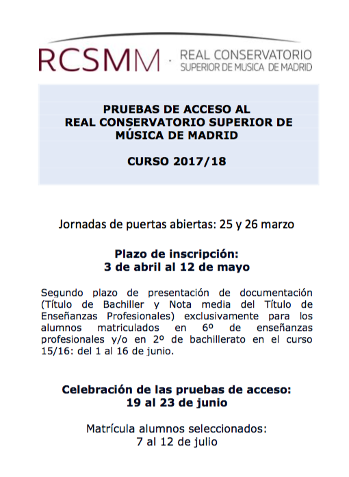 Adolphesax.com Acceso Madrid 2018