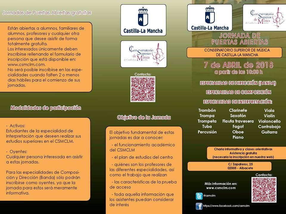 Adolphesax.com Jornadas de Puertas Abiertas CSMCLM 2