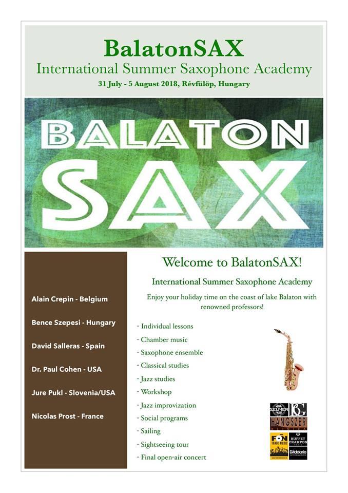 AdolpheSax.com Balaton Sax 2018