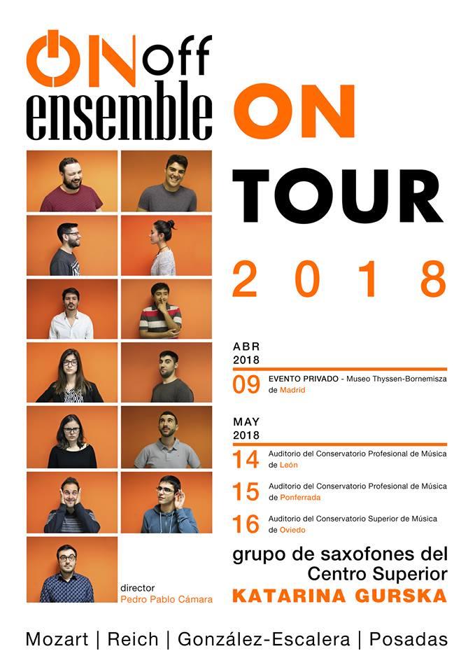 AdolpheSax.com Ensemble On Off tour 2018