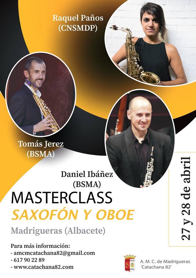 AdolpheSax.com MAsterClass Saxofon y oboe Albacete 2018