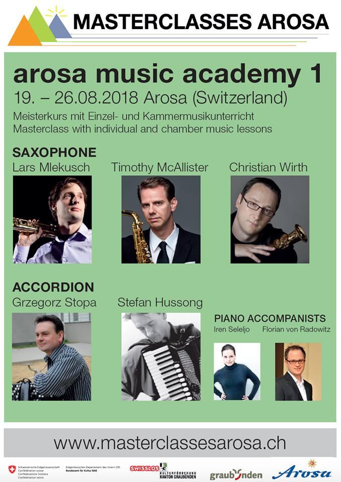 Adolphesax.com Arosa Music Academy 2018