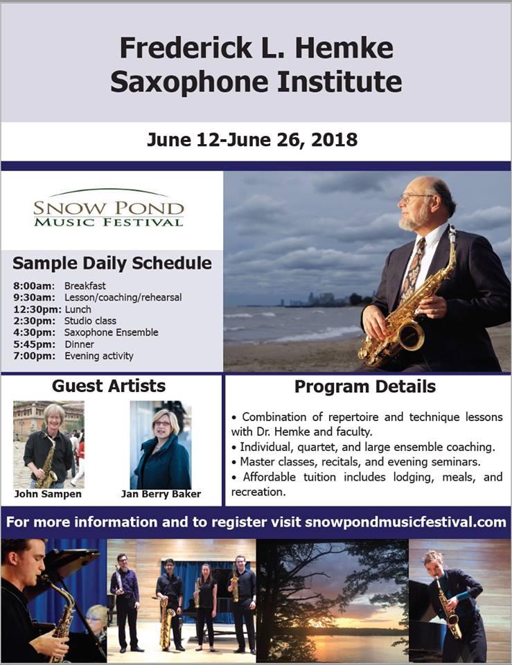 Adolphesax.com FRedrick Hemke SAxophone Institute