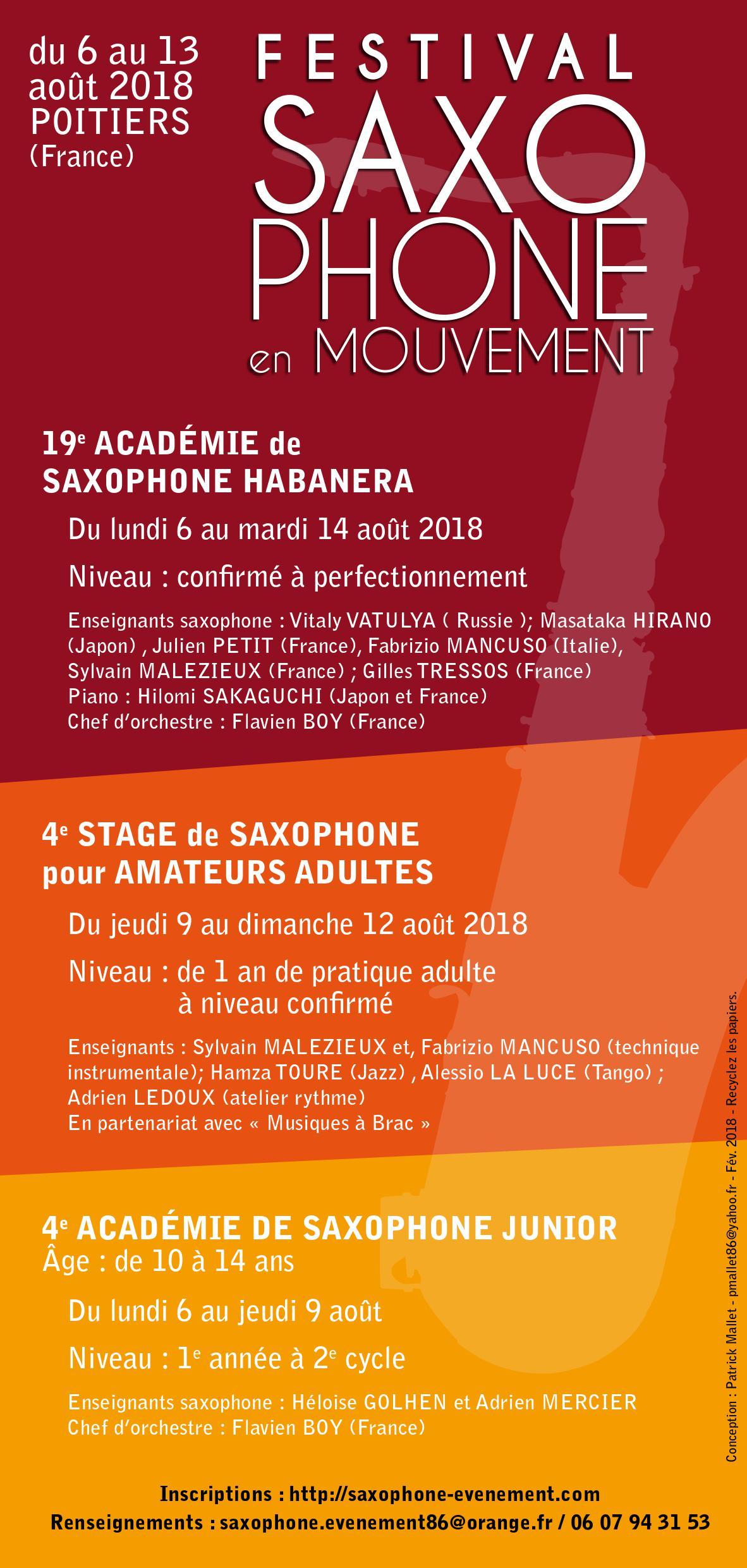 Adolphesax SAxophone en mouvement 1 2 2018