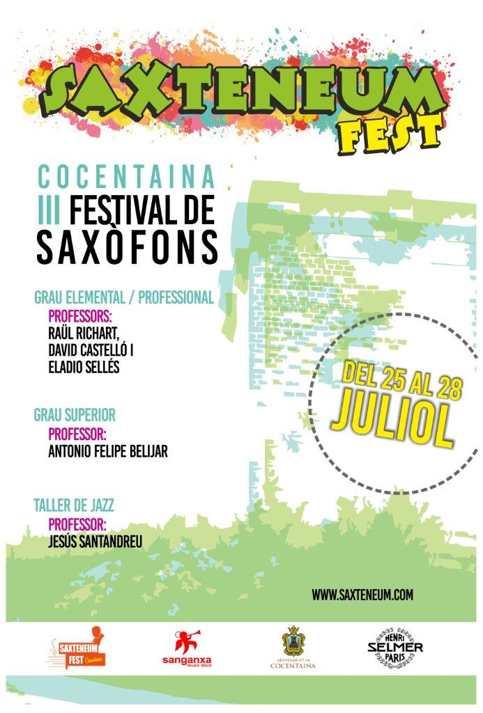 III Saxteneum Fest poster oficial