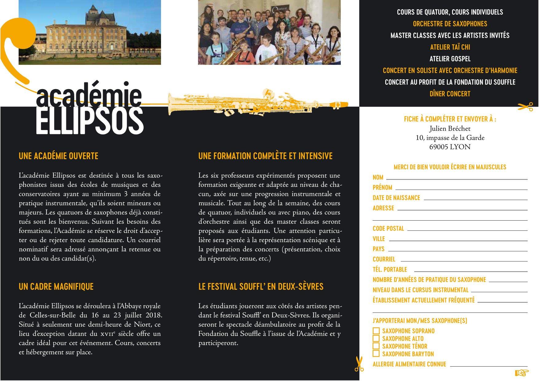 Adolphesax.com Academie Ellipsos 2018