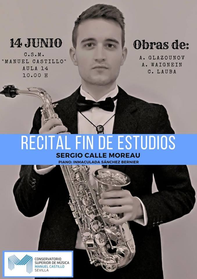 Adolphesax.com Sergio Calle Moreau Recital fin de estudios 2018