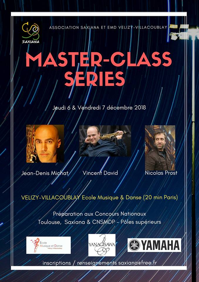 Adolphesax.com Master class series Diciembre 2018