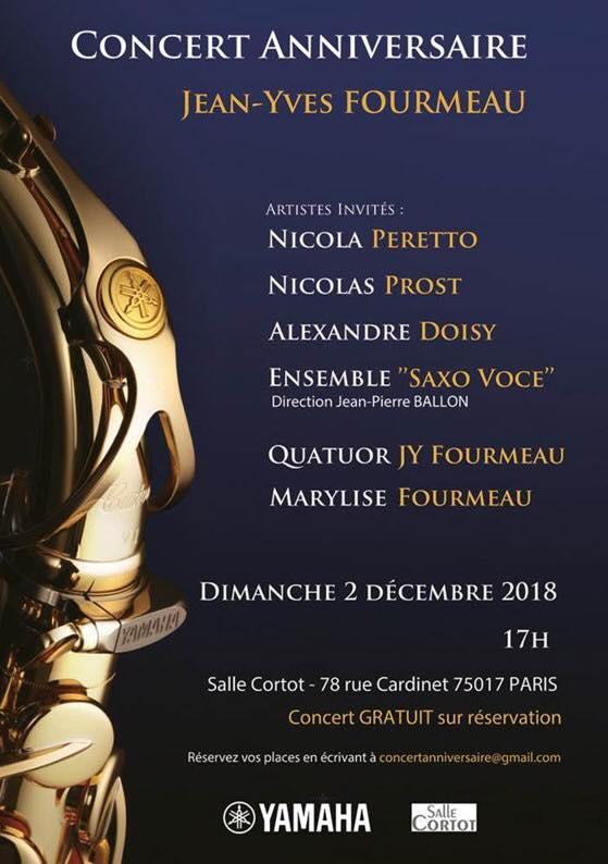 Adolphesax.com Cocnert Aniversaire Jena Ives FOurmeau diciembre 2018