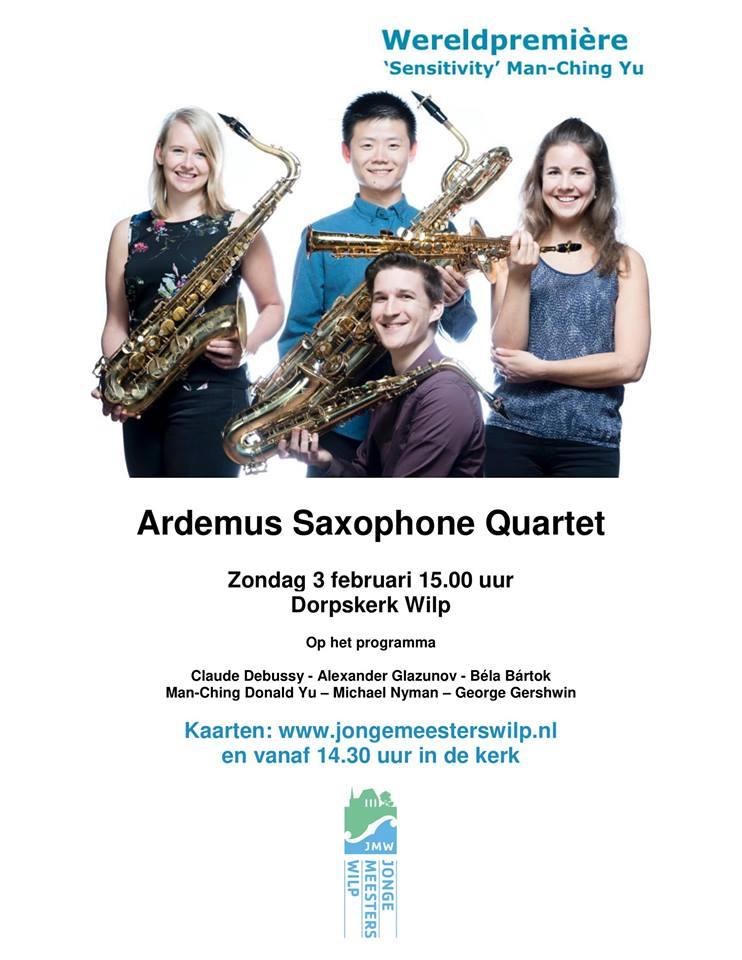 February Ardemus saxophone quartet