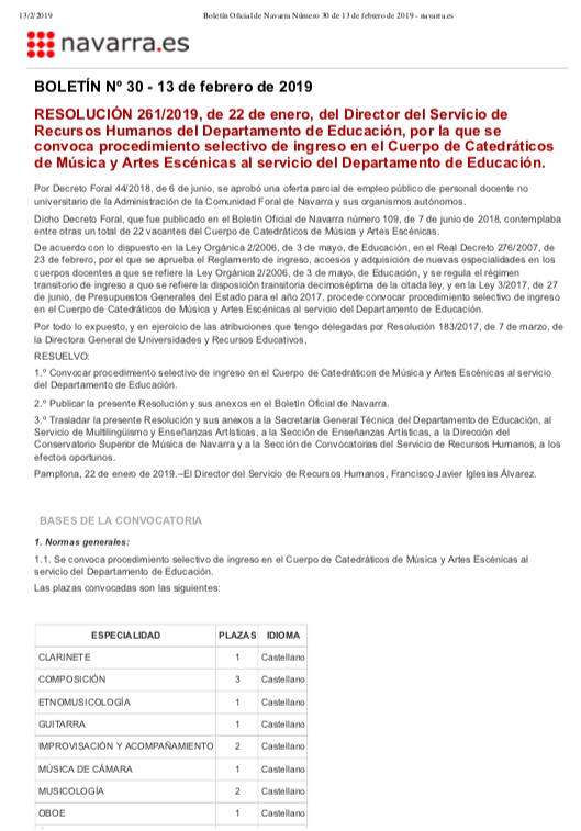 Navarra Catedraticos 2019