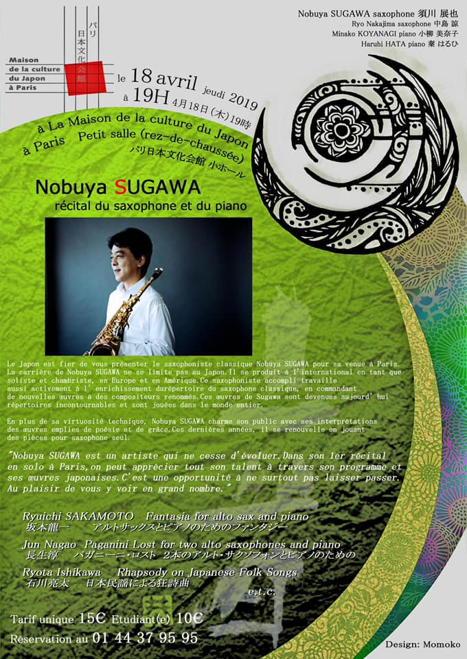 Adolphesax.com Abril 2019 Nobuya Sugawa