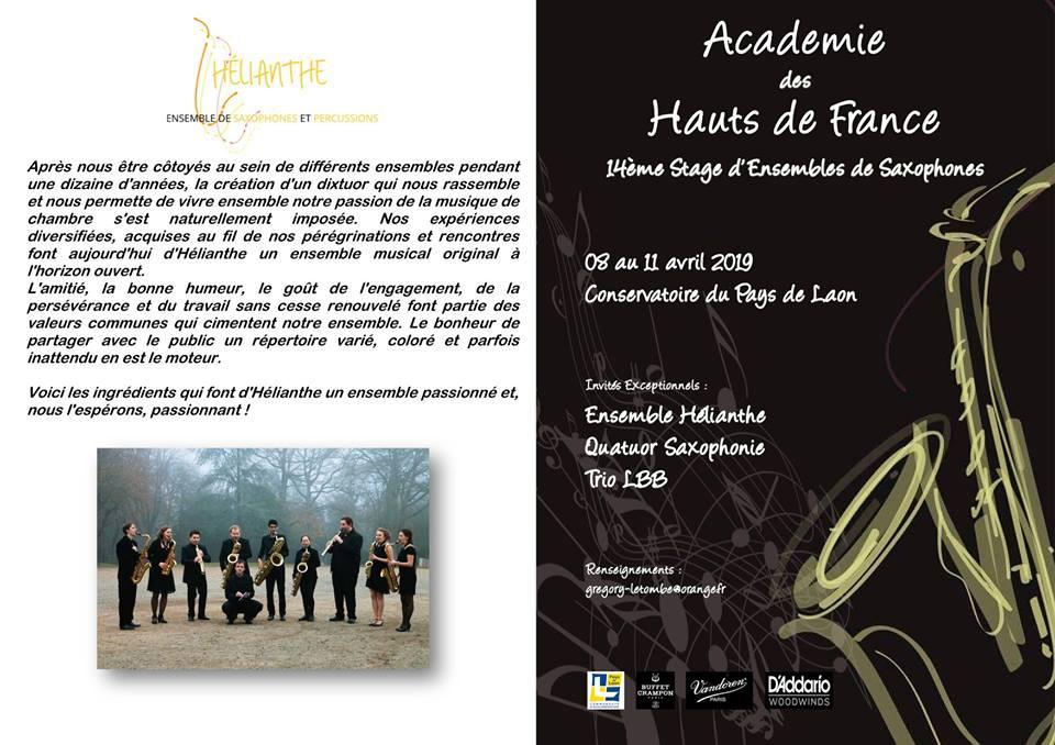 Adolphesax.com Curso Hautes de France April 2019