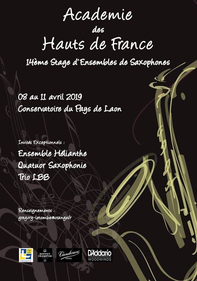 Adolphesax.com Curso Hautes de France April 2019 2