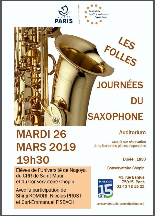 Adolphesax.com Marzo 2019 Journes de saxophone