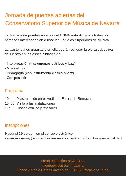 Adolphesax.com Marzo 2019 Puertas abiertas CSMN 2