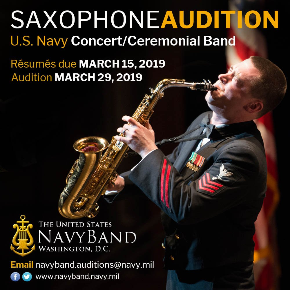 Adolphesax.com Marzo 2019 US NAVY Sax Audition