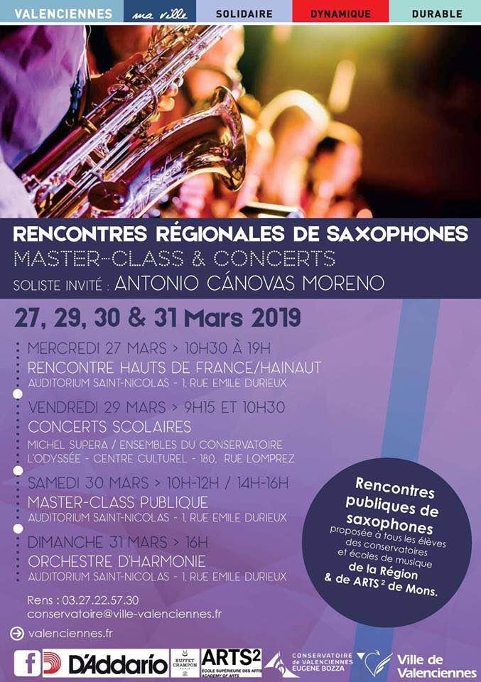 Adolphesax.com Marzo 2019 rencontres saxofon