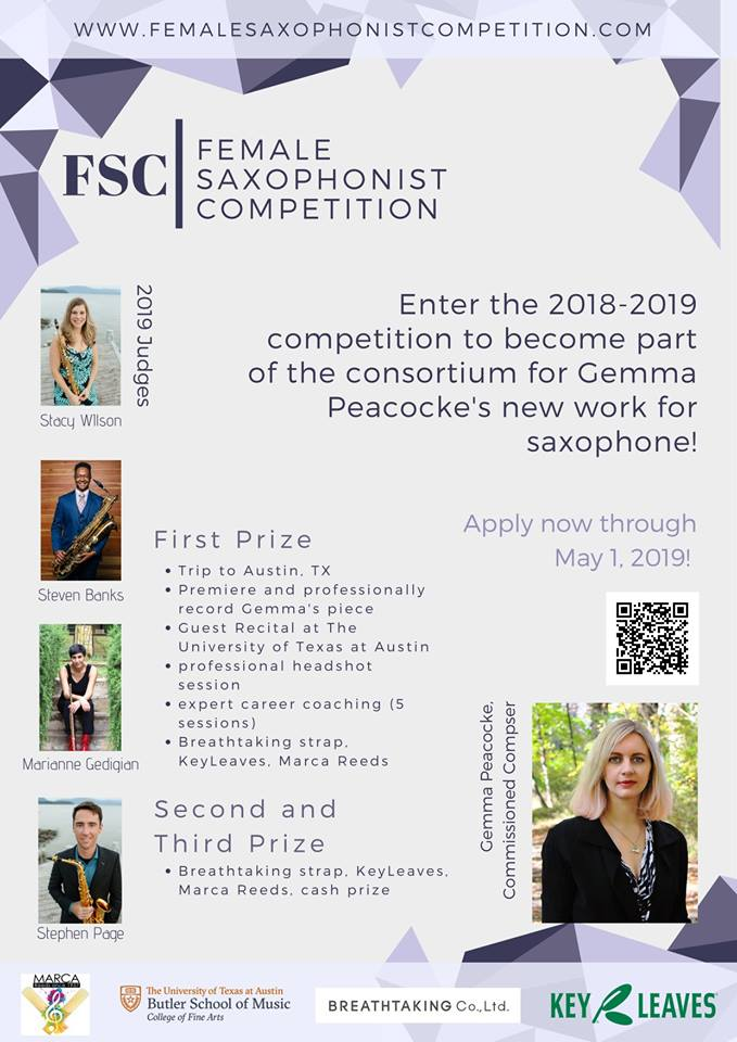 Adolphesax.com May 2019 Female Saxophonist competition