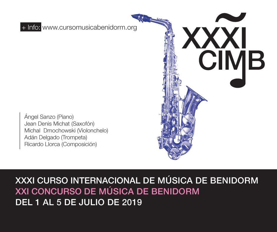 XXXI CURSO INTERNACIONAL DE MUSICA DE BENIDORM 2019