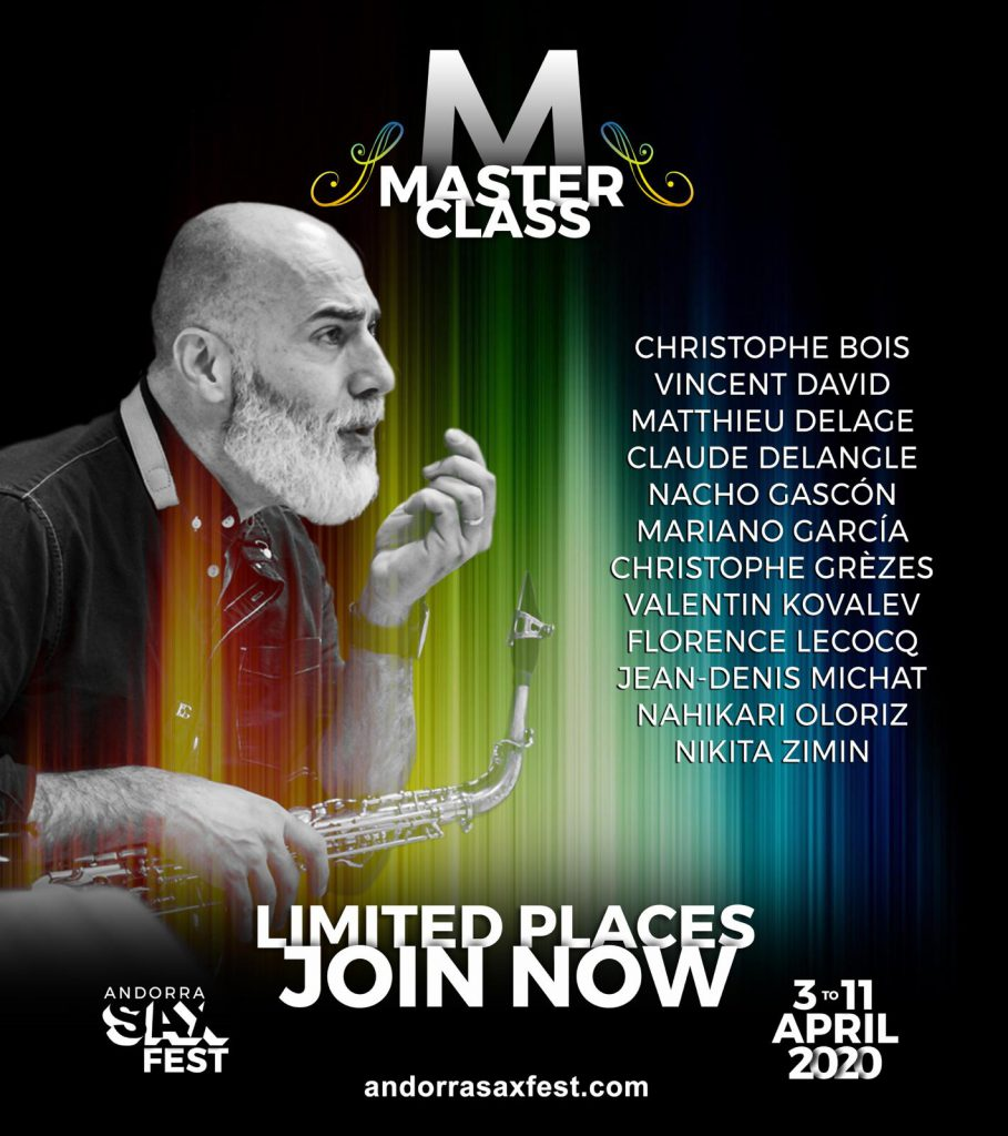 Adolphesax Andorra sax Fest Master Class