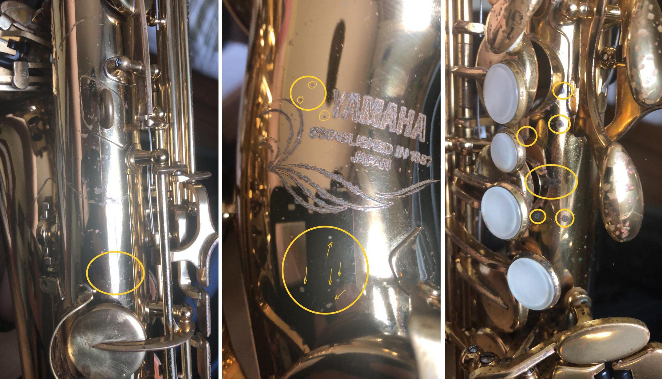 saxofon rayos UV