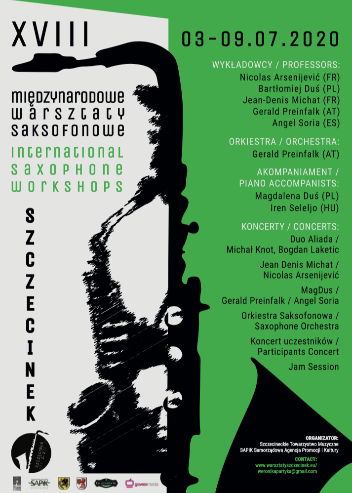 JULY 2020 International Saxophone Workshops in Poland 03 09072020 POLAND