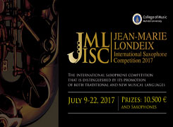 5th JEAN MARIE LONDEIX INTERNATIONAL SAXOPHONE COMPETITION 2017