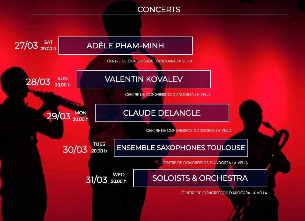 saxfest conciertos