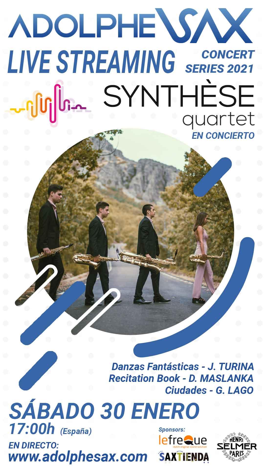 Concierto online Synthese quartet
