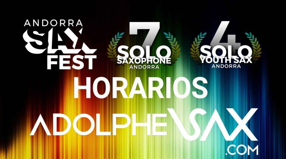 ANdorra Sax Fest Horarios