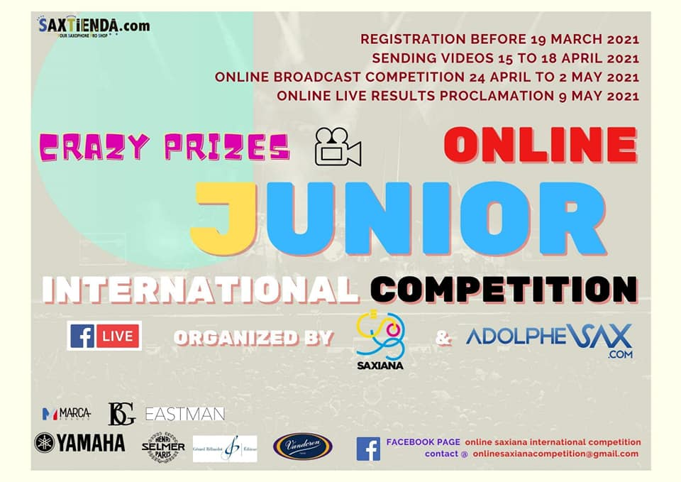 Saxiana-Adolphesax Online JUNIOR competition 2021